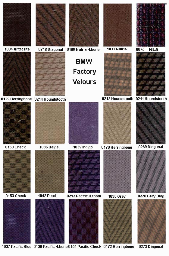 Bmw Upholstery Seats Carpets Interior Panels